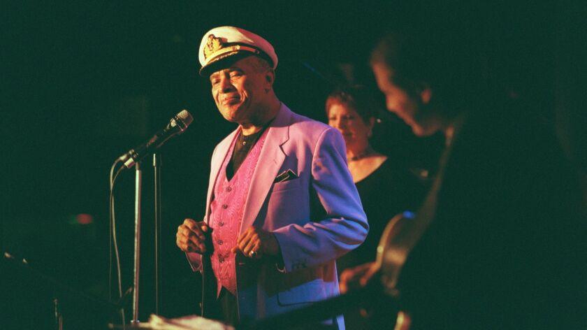 Jon Hendricks performs at the Blue Note jazz club in Manhattan in January 1999.