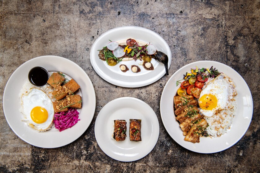 A pork-rich array of dishes at Spoon & Pork