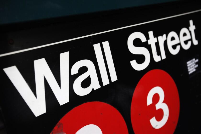 Wall Street subway sign