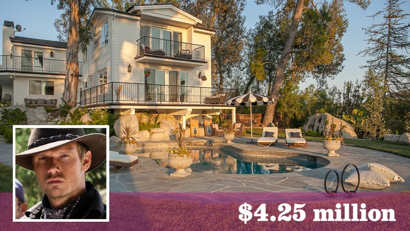 Singer-actor Nick Carter and his wife, Lauren Kitt Carter, have put their home in Hidden Hills on the market for $4.25 million.