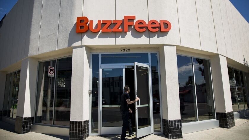 LOS ANGELES, CA -- OCTOBER 7, 2013--The exterior of the Los Angeles headquarters of the website Buz
