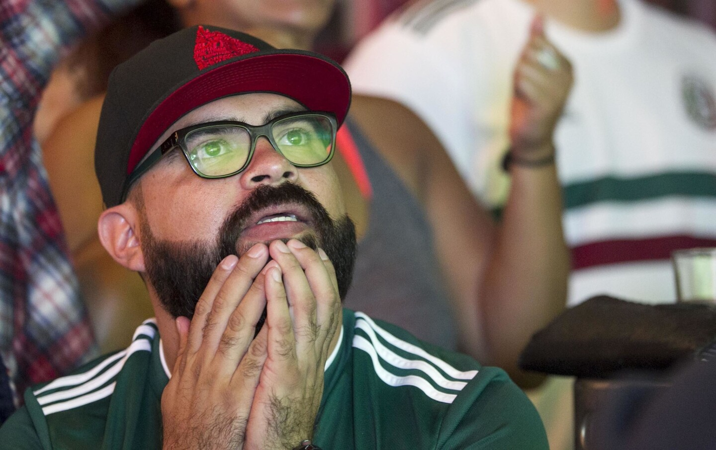 Elbert Gom, from Chula Vista watched the second half of the game.