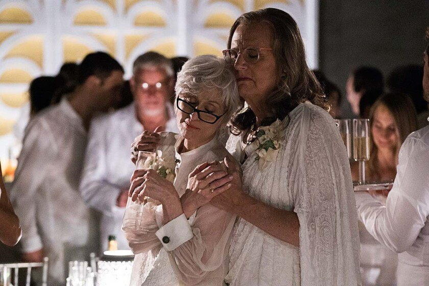 "Judith Light and Jeffrey Tambor in a scene from Season 2 of the Amazon Studios series ""Transparent."""