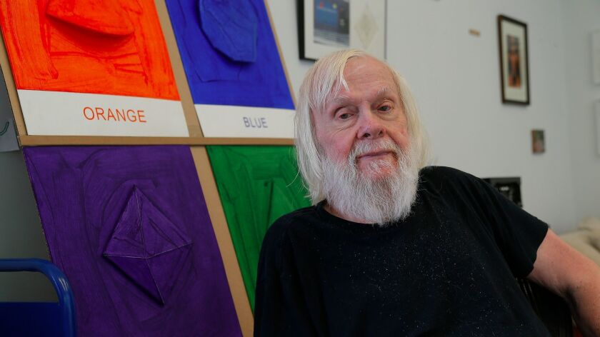 VENICE, CA., MAY 11 , 2017-- Artist John Baldessari, 85, who will be giving us a private tour of his