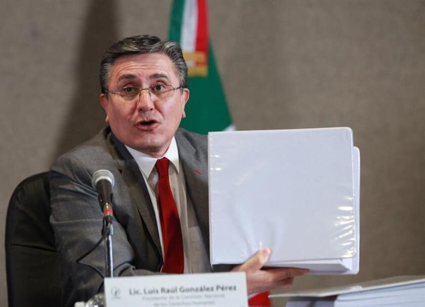 El presidente de la Comisión Nacional de los Derechos Humanos (CNDH) en México Luis Raúl González Pérez. EFE/Archivo