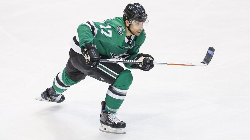Dallas Stars forward Andrew Cogliano (17) during the second period of an NHL hockey game against the