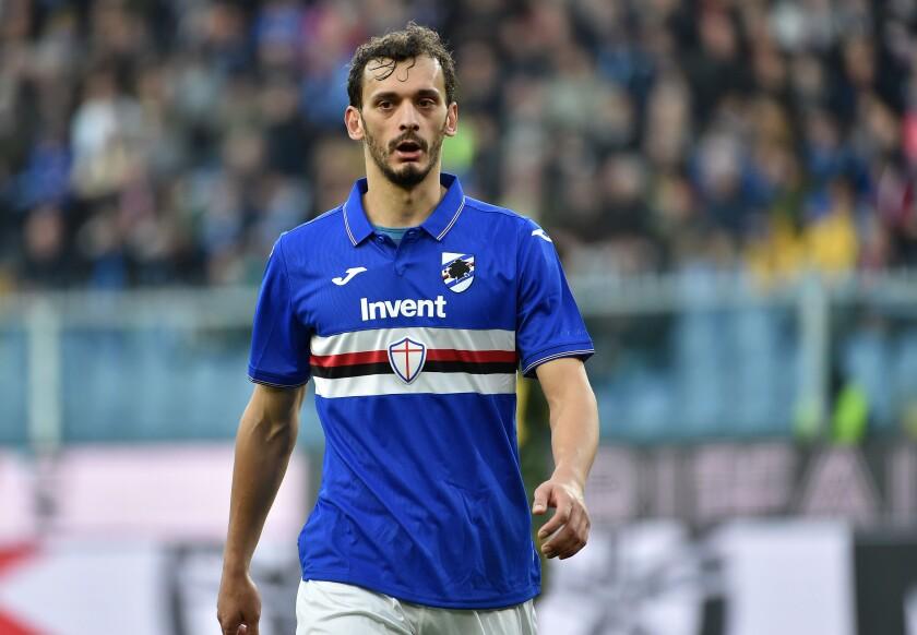 Manolo Gabbiadini of UC Sampdoria.