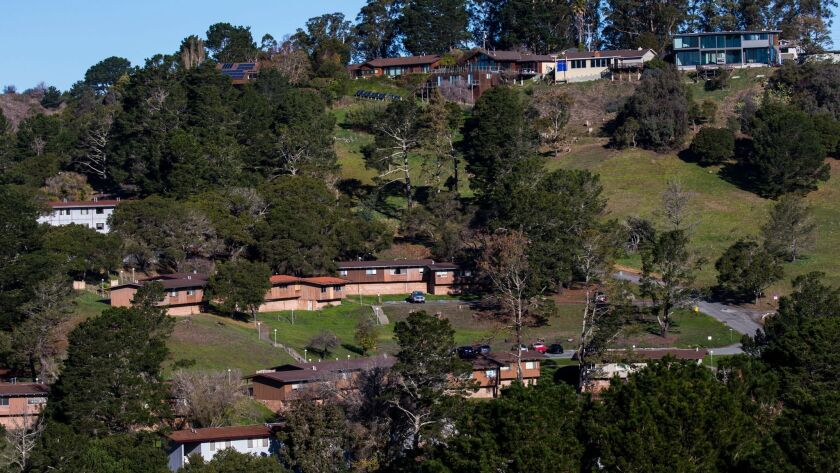 MILL VALLEY, CA - DECEMBER 20: More expensive homes overlook the former Golden Gate Baptist Theologi
