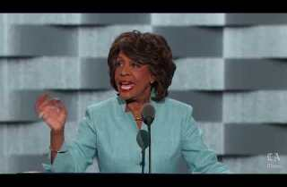 Rep. Maxine Waters of California speaks at the Democratic National Convention