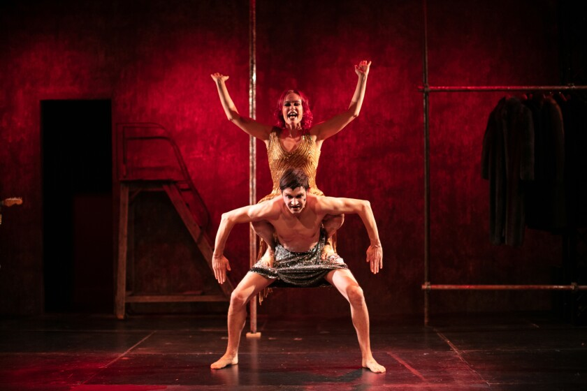 """Tonya Kay and Timur in Independent Shakespeare Company's """"Anita Berber Is Dead."""""""