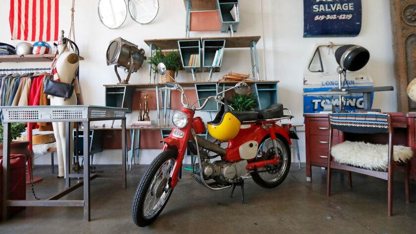 A 1966 Honda trail bike at American Vintage House in Newport Beach.
