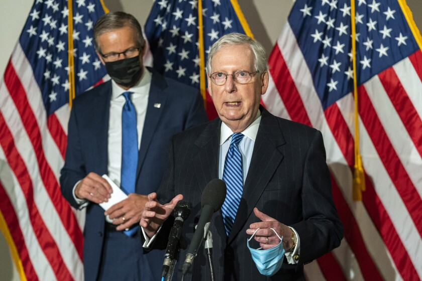 Mitch McConnell and John Thune