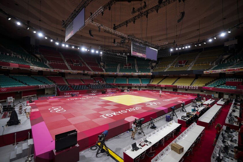The Nippon Budokan in Tokyo, the site of the Olympic judo competition.