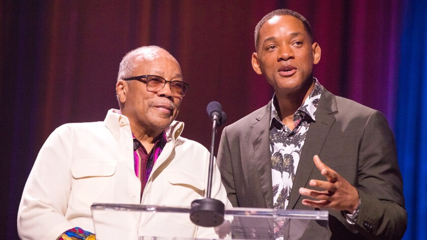 """Quincy Jones, left, and Will Smith host """"International Jazz Day From Cuba"""" on PBS."""