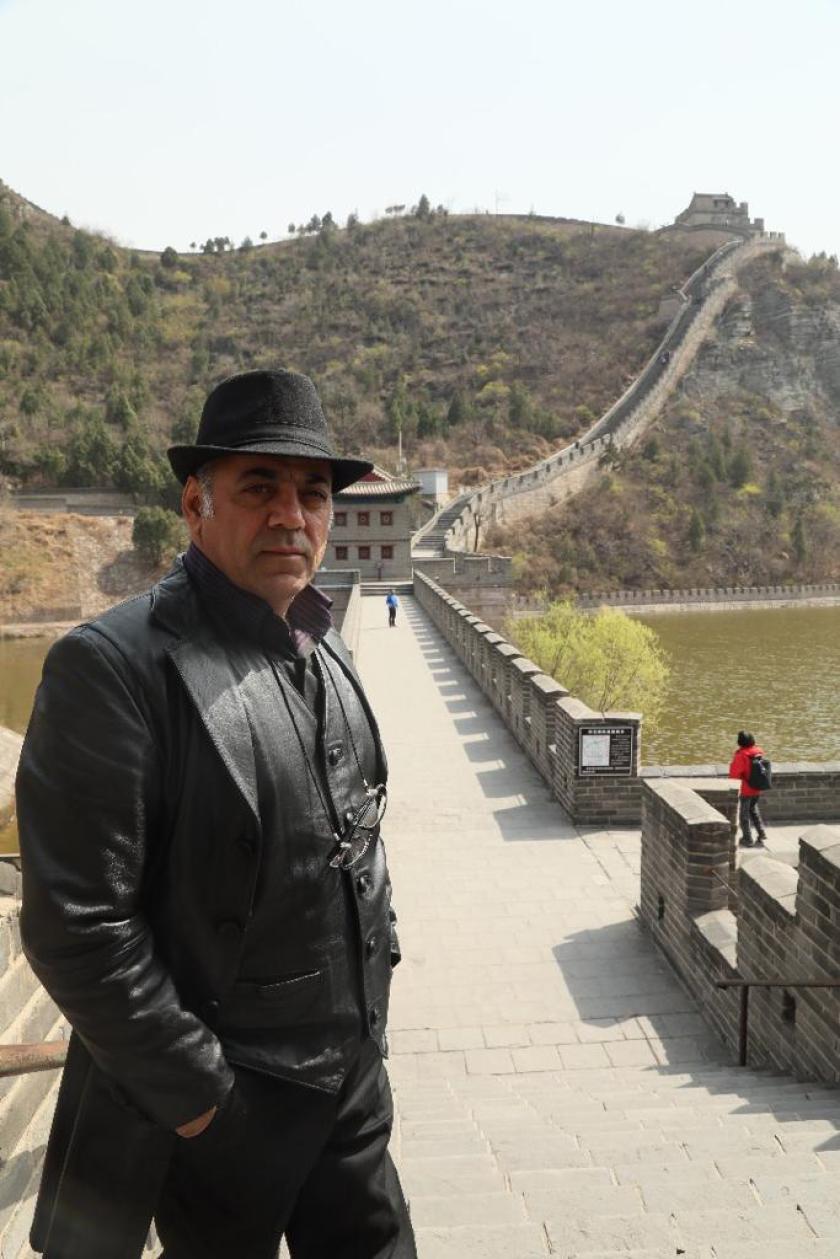 "Javad Afshar, the director of ""Gando."""
