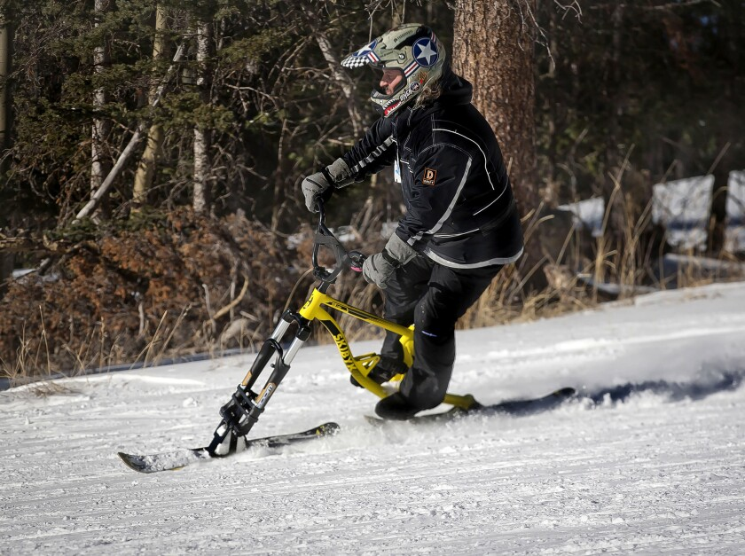The ski bike has been around for decades, but never for under $1000. Enter the economical, aluminum-
