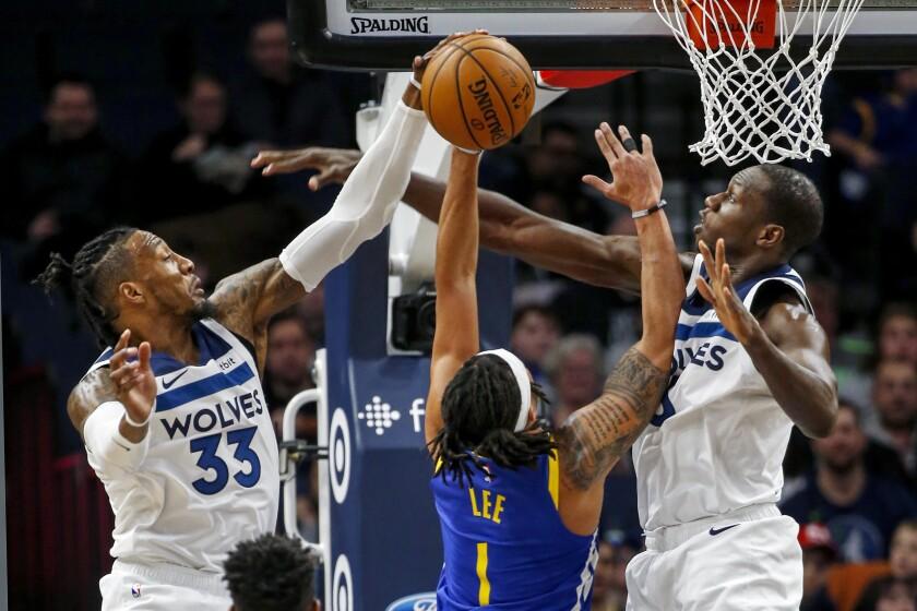 Warriors Timberwolves Basketball