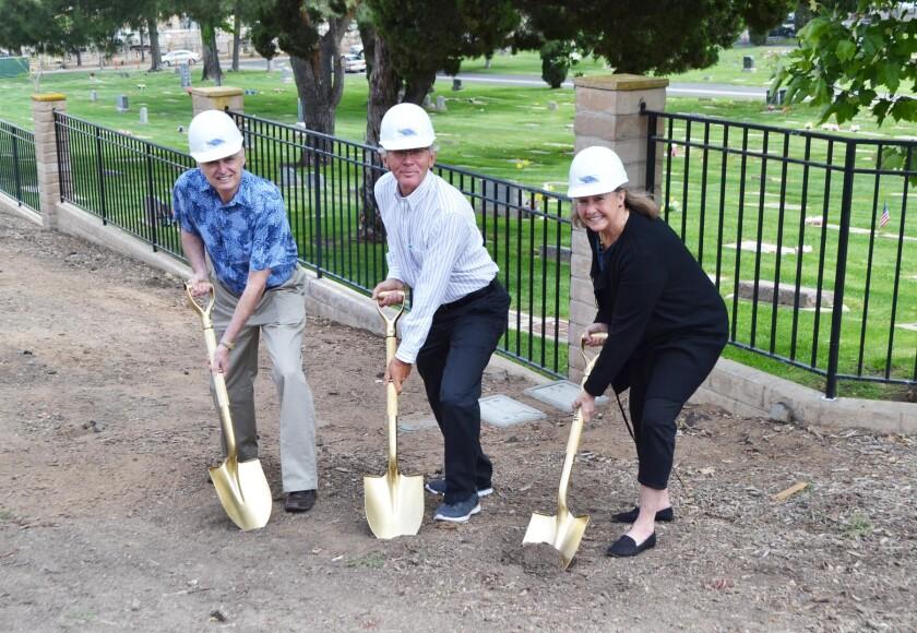 Pomerado Cemetery District board members Bob Thomas, Jim Lyons and Denise Polito.