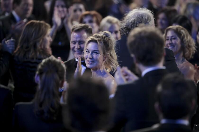 Lead actress winner Renée Zellweger at the SAG Awards.