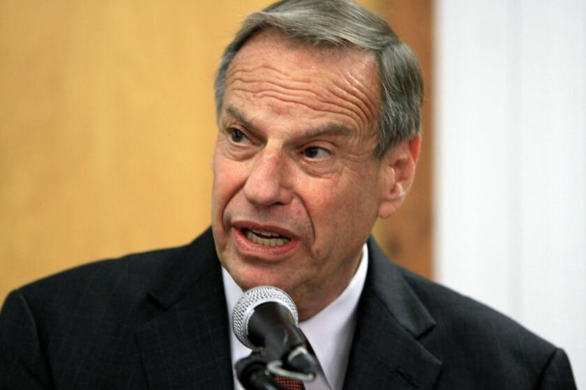 Mayor Bob Filner of San Diego speaks at a news conference announcing his intention to seek professional help for sexual harassment issues.