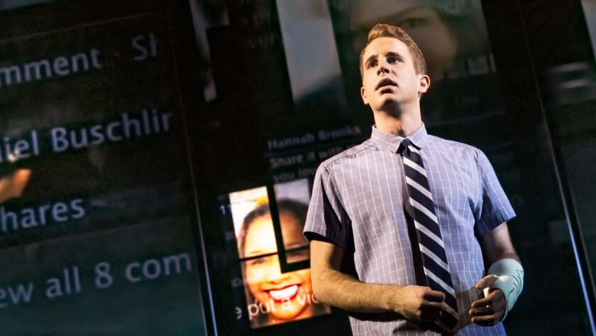 """Ben Platt portrays the title character, a high schooler floundering to find his place in the world, in """"Dear Evan Hansen."""""""