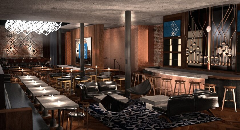 This rendering provided by PepsiCo shows the concept of what Pepsi's Kola House, the first experimental kola bar, restaurant, lounge and event space to open in the U.S. market, is expected to look like. This first-of-its-kind hospitality venture is set to open its doors in spring 2016, with its fla