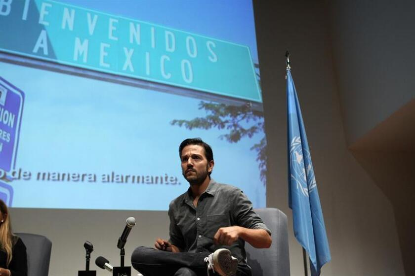 El actor mexicano Diego Luna durante una conferencia de prensa. EFE/Archivo