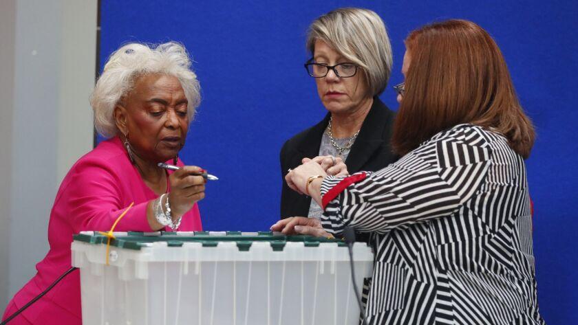 Brenda Snipes, Betsy Benson, Deborah Carpenter-Toye
