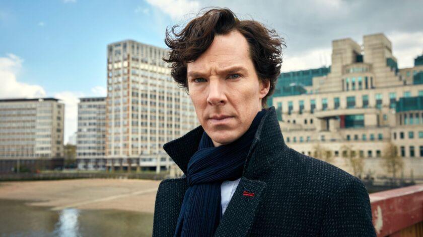 "Benedict Cumberbatch plays a 21st-century Holmes in ""Sherlock,"" whose fourth season begins Jan. 1 on PBS' ""Masterpiece."""