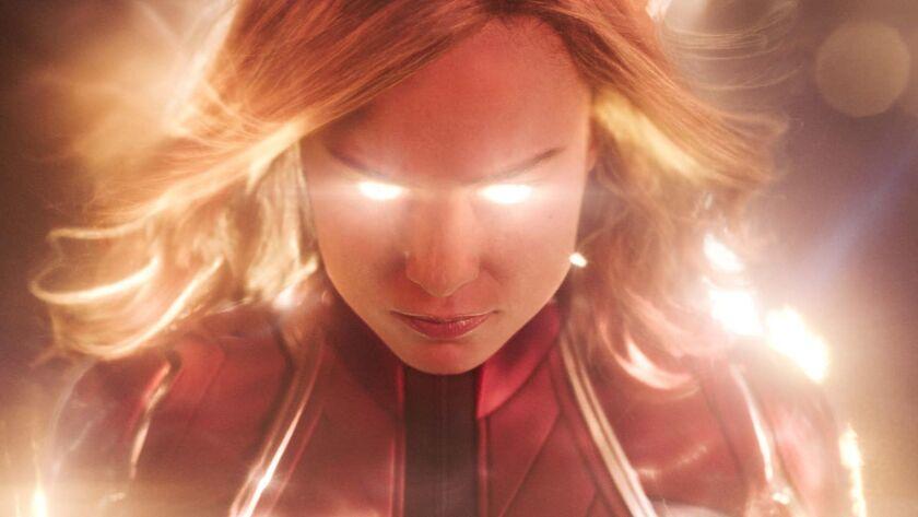 Captain Marvel (Brie Larson) in a scene from Marvel Studios' CAPTAIN MARVEL. Credit: Film Frame /Mar