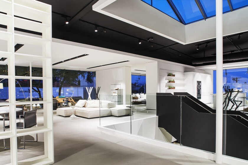 The 15,500-square-foot Luminaire showroom on Beverly Boulevard features full-scale residential environments.
