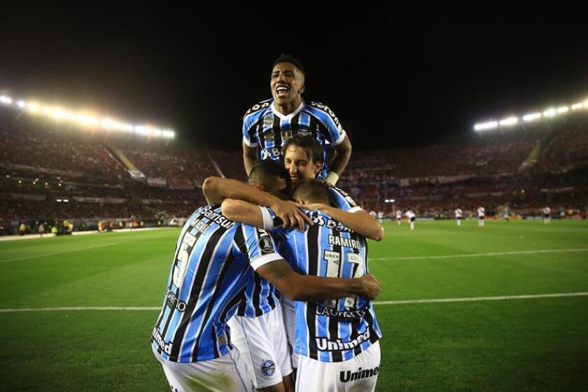 En la imagen, jugadores de Gremio de Brasil. EFE/Archivo