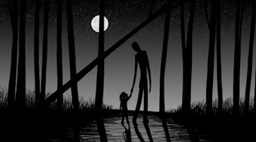 "An image from the documentary ""Beware the Slenderman."""