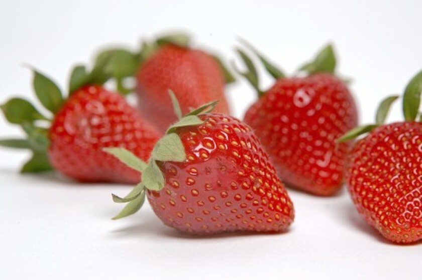 Strawberries: Let your nose choose.