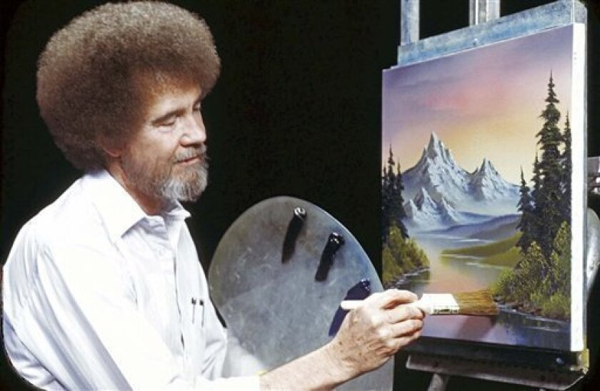 This undated image released by Copyright Bob Ross Inc.