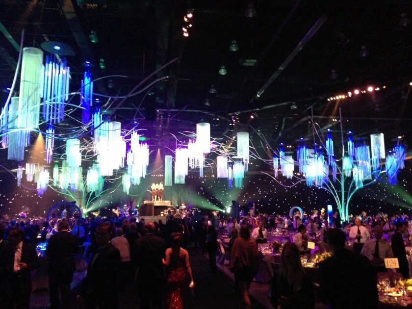 A few Google Glass wearers were spotted on Sunday night at the Creative Arts Ball.