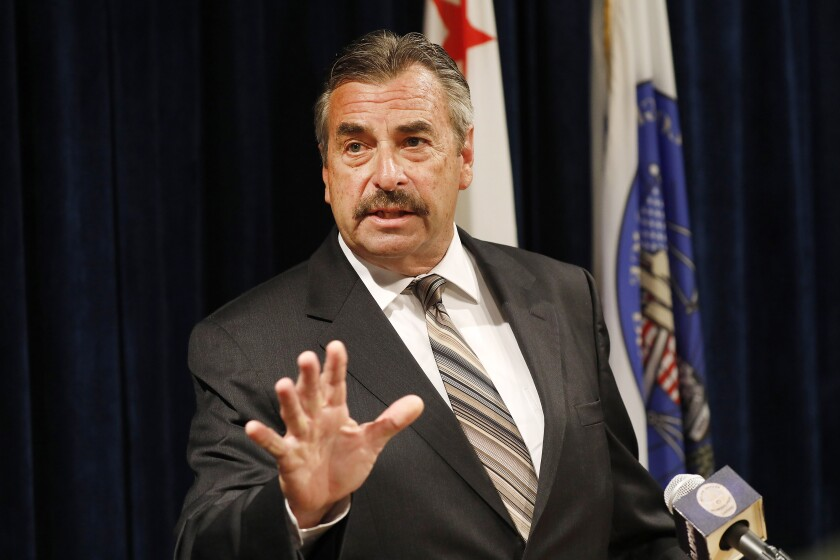 Former LAPD Chief Charlie Beck will lead the Chicago police force as the city continues searching for a permanent leader.