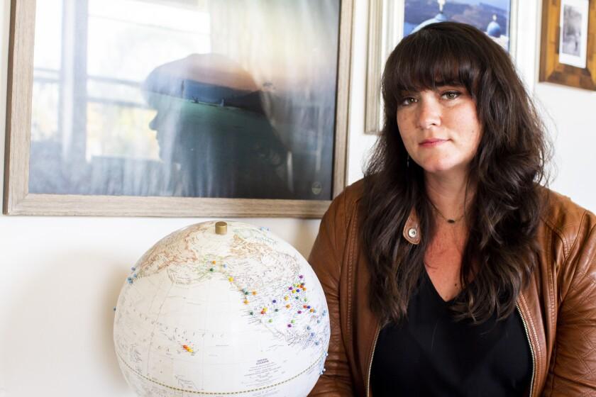 Photographer Allison Davis in her home in San Diego.