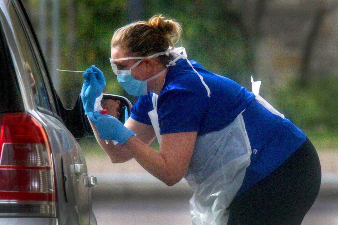 NHS Workers Tested For Coronavirus At Drive-Thru Sites
