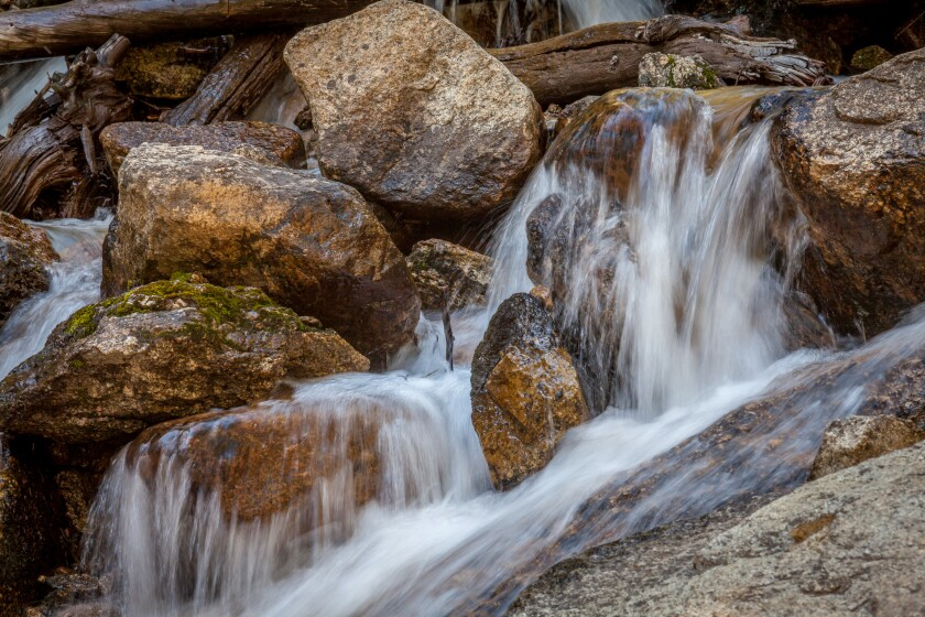 The sound of moving water has a calming effect.