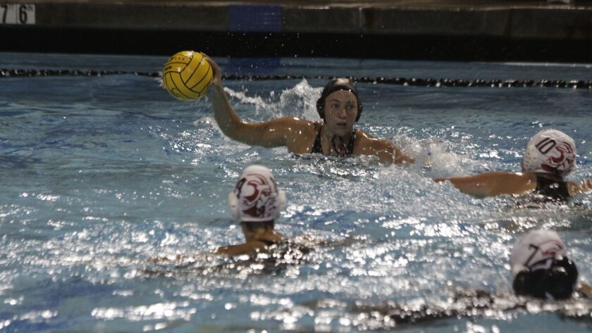 Bishop's School Knight Robyn Carter scores two of the Knight's three goals in the CIF Championship.
