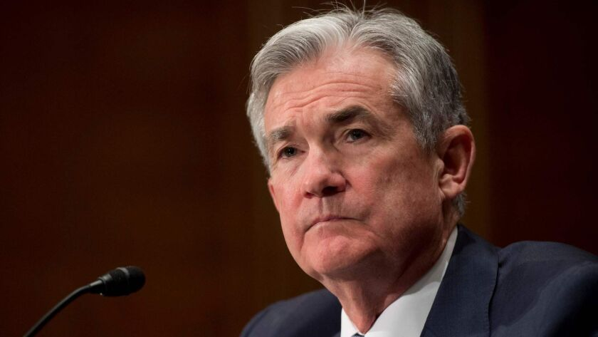 Federal Reserve Chairman Jerome H. Powell testifies during a Senate hearing on March 1.