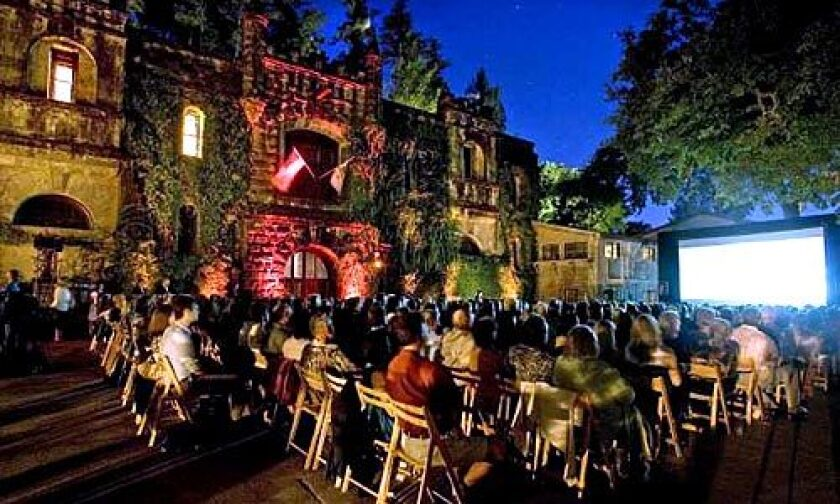"""WINERY: """"Bottle Shock"""" was shown recently at Chateau Montelena Winery in Napa Valley."""