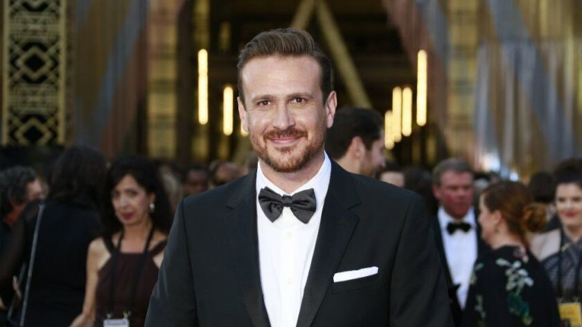 Actor Jason Segel during arrivals at the 88th Academy Awards on Feb. 28, 2016, at the Dolby Theatre in Hollywood.