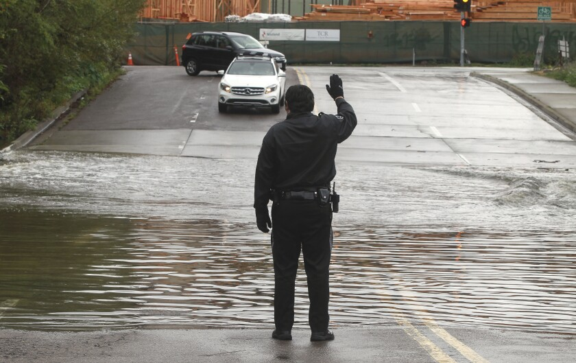 Flooding near Fashion Valley mall in 2020