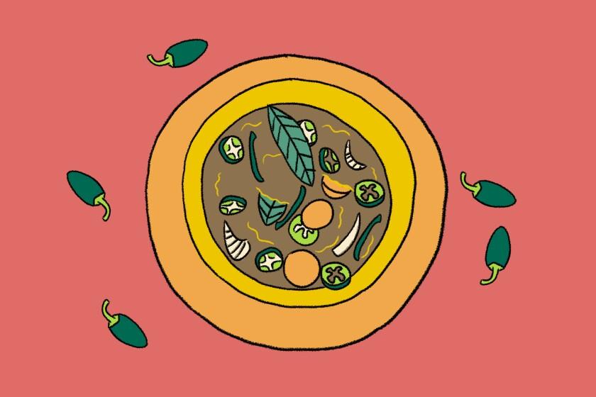 illustrations of pickles jalapeños and verduras enuridas