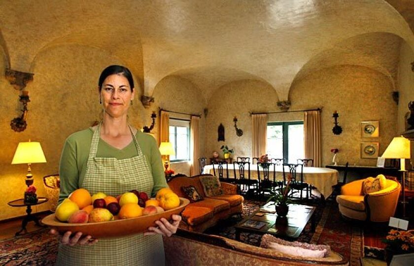 Teresa Fanucchi, chef at Immaculate Heart Center for Spiritual Renewal in Montecito, in the dining room of the retreat.