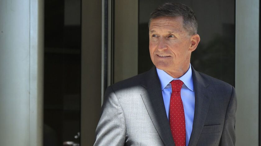 Former Trump national security advisor Michael Flynn leaves federal courthouse in Washington in July.