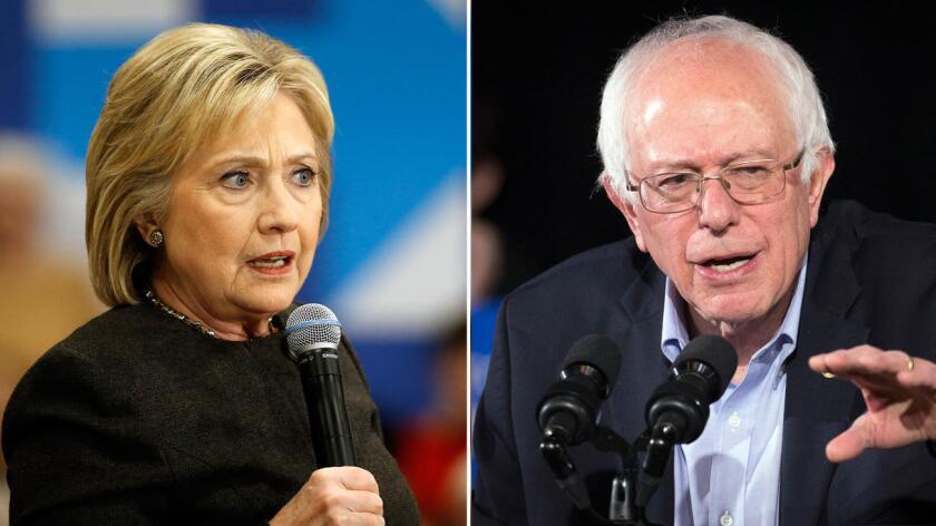 Hillary Clinton y Bernie Sanders.