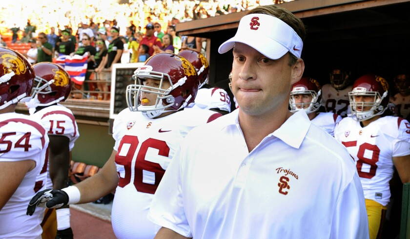 Former USC coach Lane Kiffin could be on the opposite sideline from the Trojans in the 2016 Cowboys Classic if he's still the Alabama offensive coordinator.